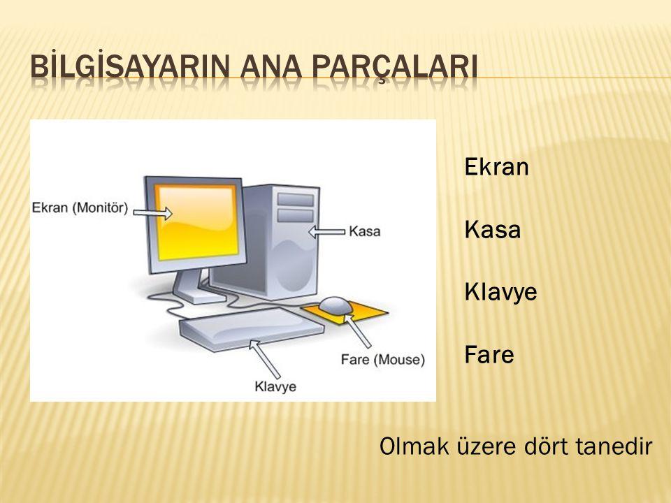 Bilgisayarda yapılan bütün işlemlerin görüntülenmesini sağlar Bilgisayarın çalışmasını sağlayan asıl parçaların bulunduğu yerdir