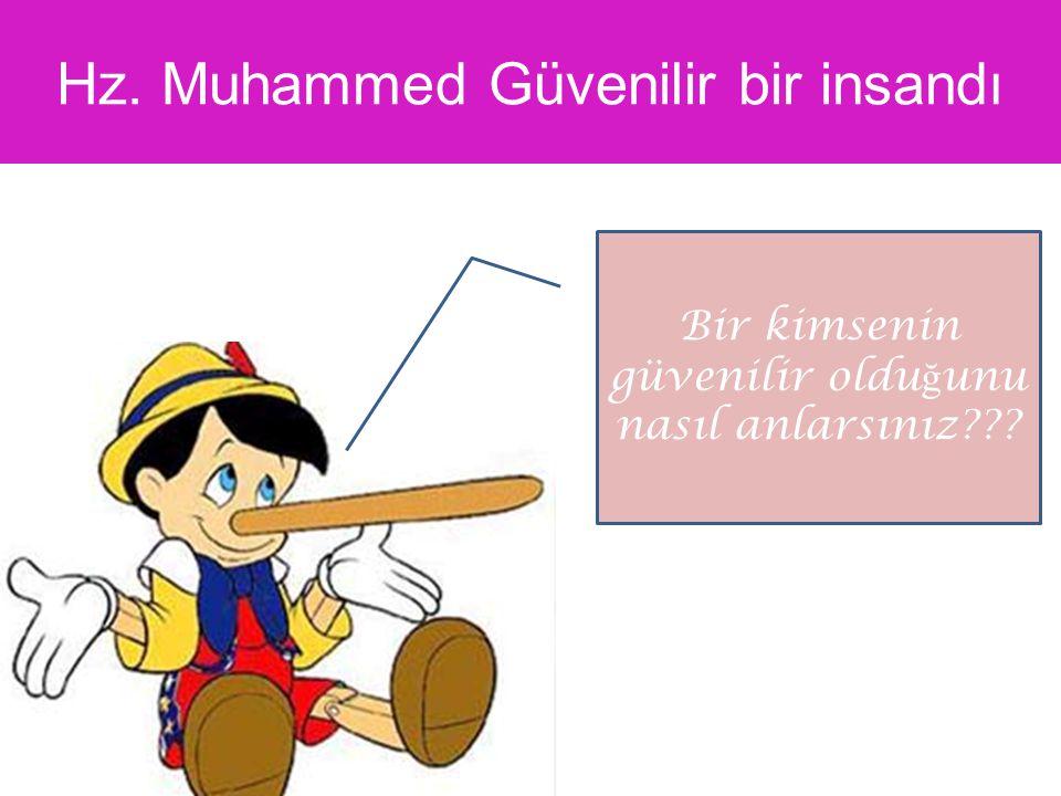 Hz. Muhammed Güvenilir bir insandı Bir kimsenin güvenilir oldu ğ unu nasıl anlarsınız???