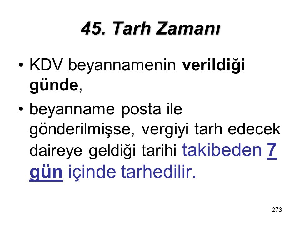 274 46.Verginin Ödenmesi 1.
