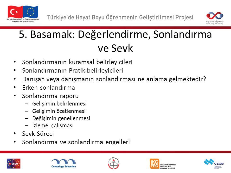 Beş Aşamalı Mesleki Rehberlik ve Danışmanlık Süreci Doç. Dr. Tuncay Ergene ergene@hacettepe.edu.tr