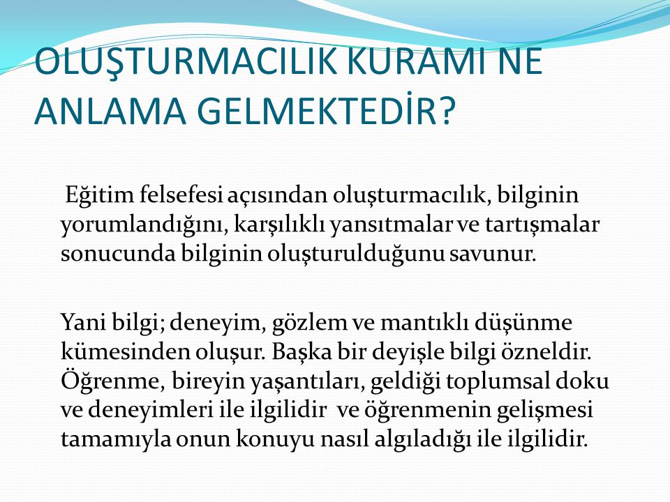 KAYNAKLAR Beydoğan, H.Ömer.(ty). Öğretimde Planlama ve Değerlendirme.