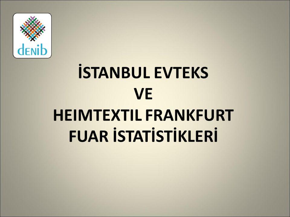 İSTANBUL EVTEKS VE HEIMTEXTIL FRANKFURT FUAR İSTATİSTİKLERİ
