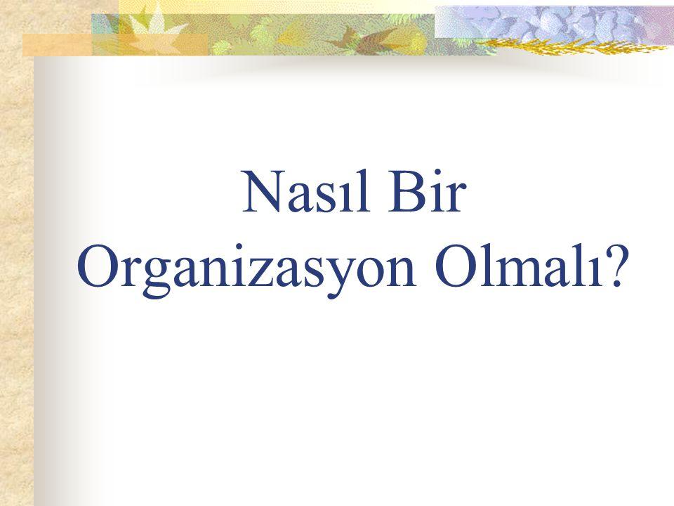 Nasıl Bir Organizasyon Olmalı?