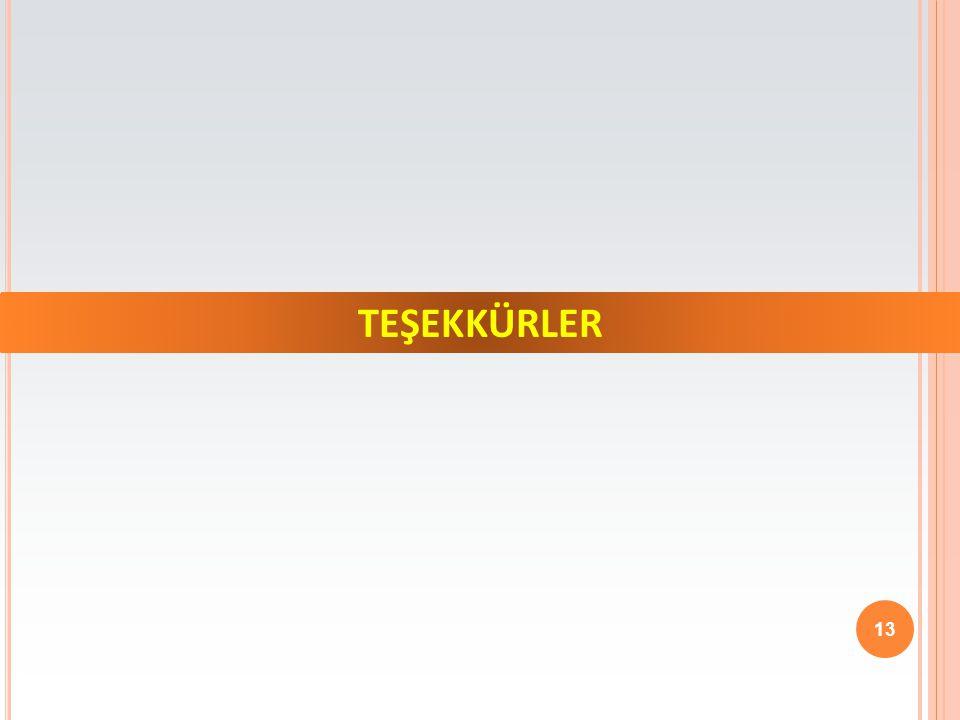 TEŞEKKÜRLER 13