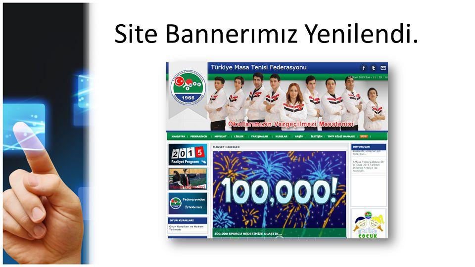 Site Bannerımız Yenilendi.