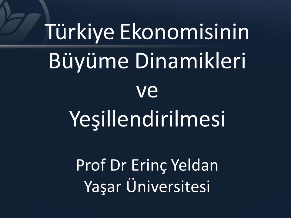 Türkiye Ekonomisinin Büyüme Dinamikleri ve Yeşillendirilmesi Prof Dr Erinç Yeldan Yaşar Üniversitesi