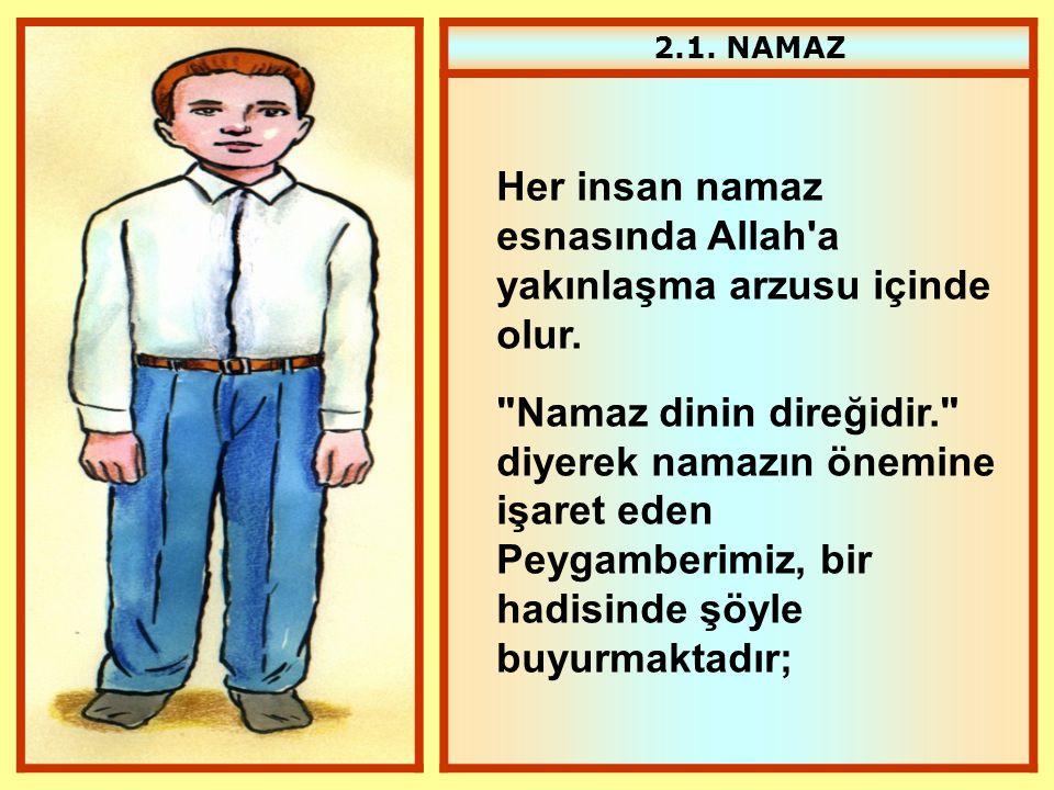 2.1. NAMAZ Her insan namaz esnasında Allah'a yakınlaşma arzusu içinde olur.