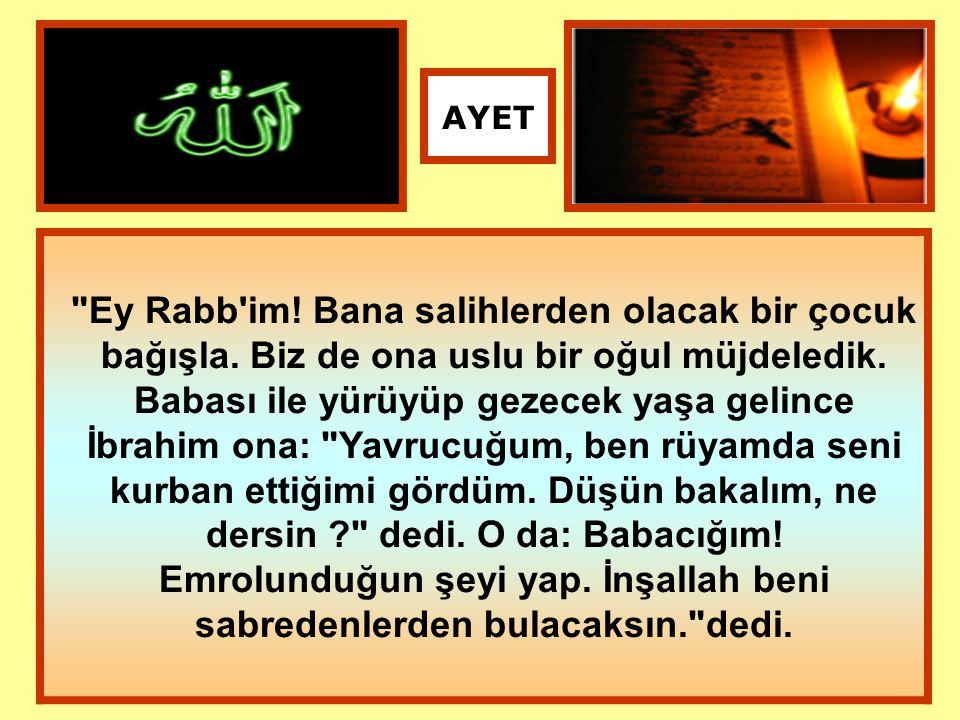 Nihayet her ikisi de (Allah ın emrine ) boyun eğip İbrahim de onu yüzüstü yere yatırınca ona şöyle seslendik: Ey İbrahim.