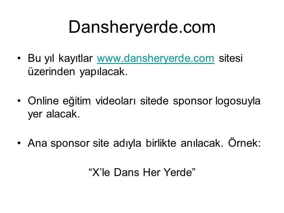 Dansheryerde.com Bu yıl kayıtlar www.dansheryerde.com sitesi üzerinden yapılacak.www.dansheryerde.com Online eğitim videoları sitede sponsor logosuyla