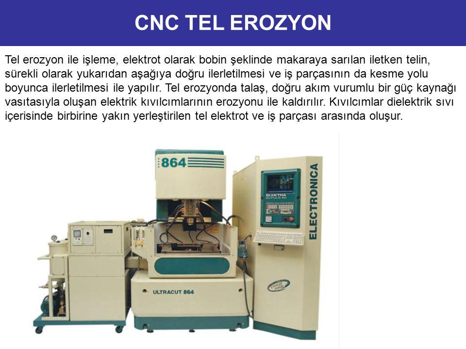 Kıvılcımlar dielektrik sıvı içerisinde birbirine yakın yerleştirilen tel elektrot ve iş parçası arasında oluşur.