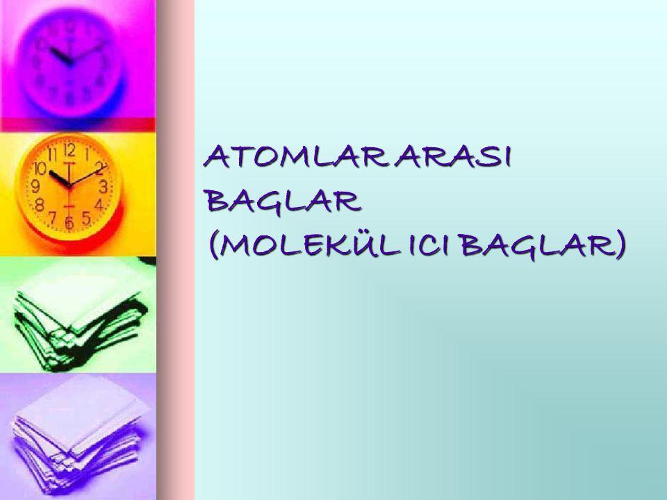 Atomları birarada tutan Coulomb ç ekme kuvvetleri sayesinde atomlararası baglar meydana gelir.