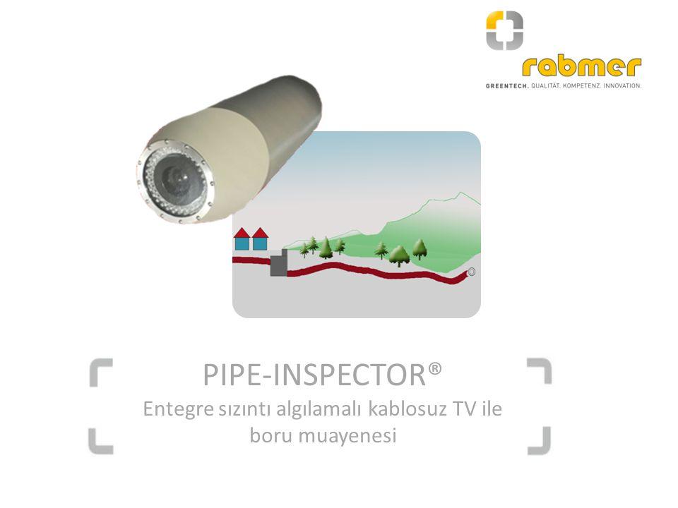 PIPE-INSPECTOR® Entegre sızıntı algılamalı kablosuz TV ile boru muayenesi