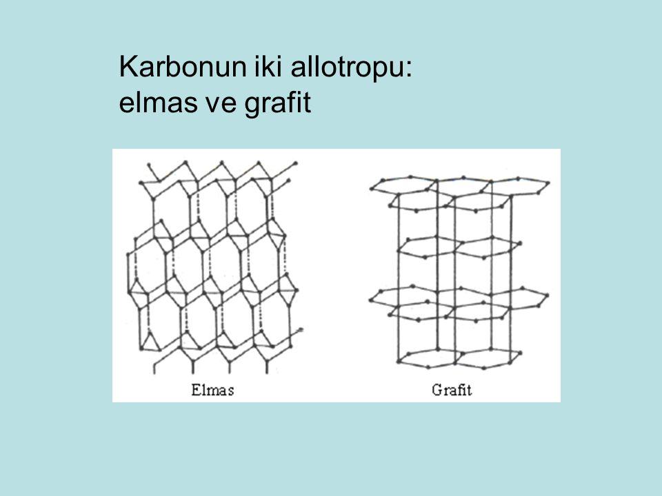 Karbonun iki allotropu: elmas ve grafit