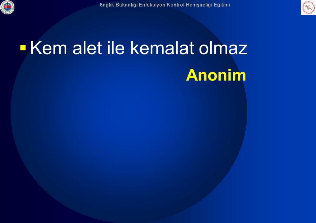  Kem alet ile kemalat olmaz Anonim