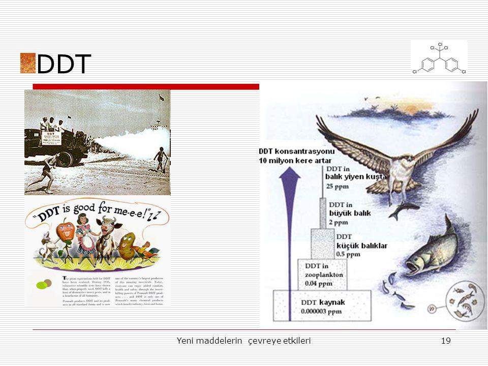 Yeni maddelerin çevreye etkileri19 DDT
