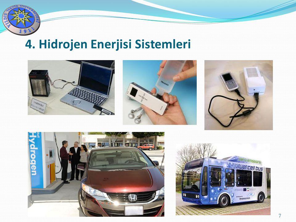 8 Yakıt hücresi sistemlerinin bazı avantajları şu şekilde sıralanabilir: Yakıt hücreleri yüksek işletme verimliliği sağlama potansiyeline sahiptir.