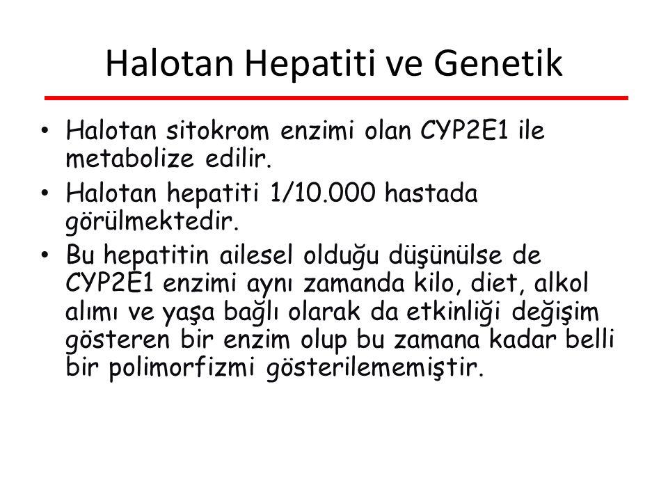 Halotan sitokrom enzimi olan CYP2E1 ile metabolize edilir.