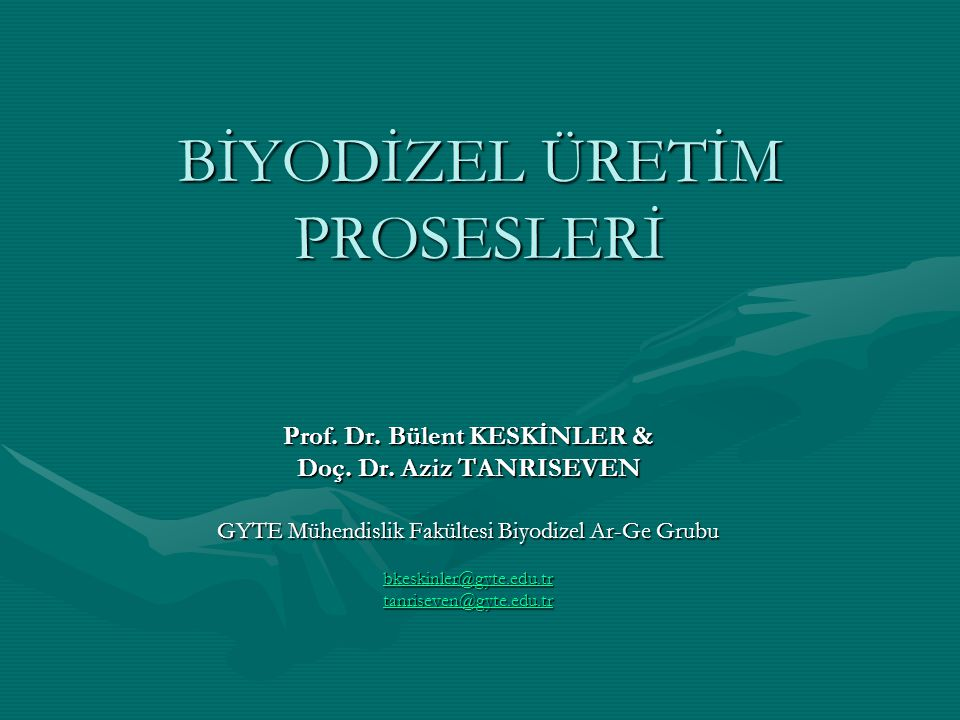 Biyodizel Üretim Prosesleri Kesikli (500-10000 ton/yıl) Yarı kesikli Sürekli (>30000 ton/yıl)