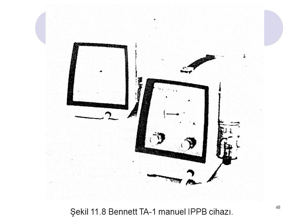 48 Şekil 11.8 Bennett TA-1 manuel IPPB cihazı.