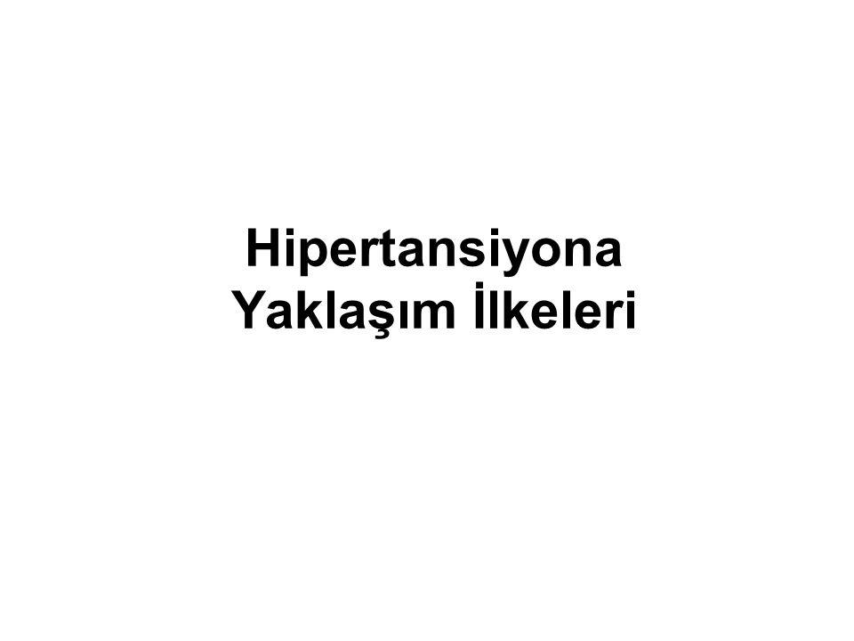 Hipertansiyona Yaklaşım İlkeleri