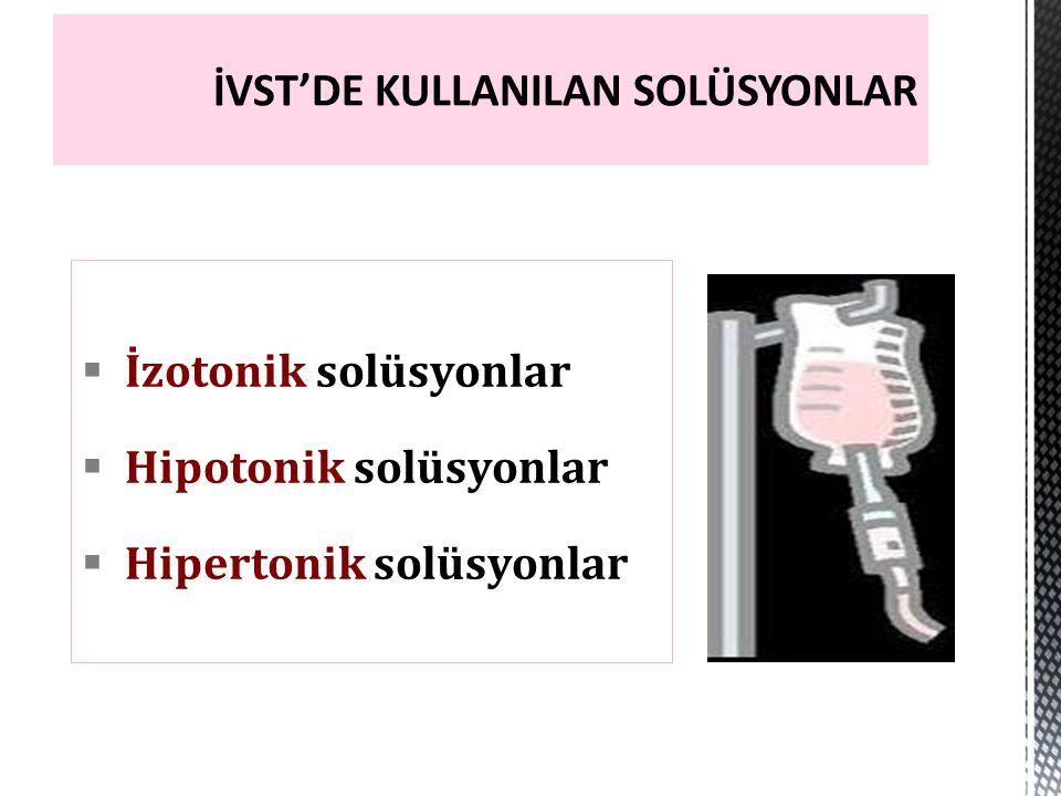  309 mOsm/lt (izotonik)  50 gr/lt Glikoz  pH: 6.5-7.0  100cc/lt serbest su sağlar  6gr NaCl:103mEq Na ve Cl  0.3gr KCl: 4mEq K ve Cl  0.2 gr Kalsiyum klorür: 6mEq Ca ve Cl  3.1ger Sodyum laktat: 47.2 mg Na ve laktat Laktatlı Ringer (LR) = Ringerli Laktat