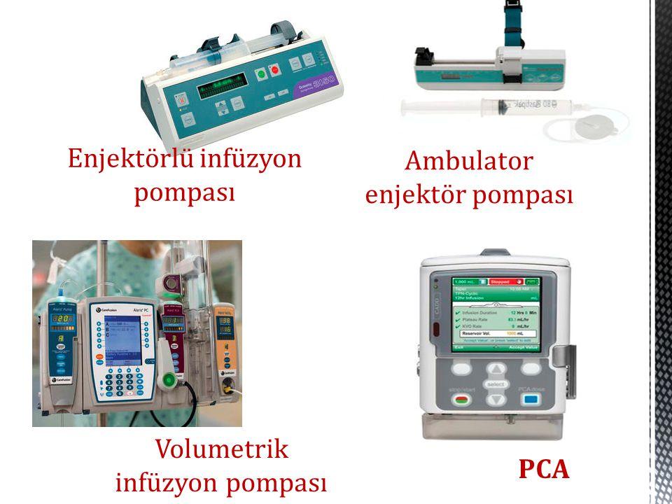Enjektörlü infüzyon pompası Ambulator enjektör pompası Volumetrik infüzyon pompası PCA