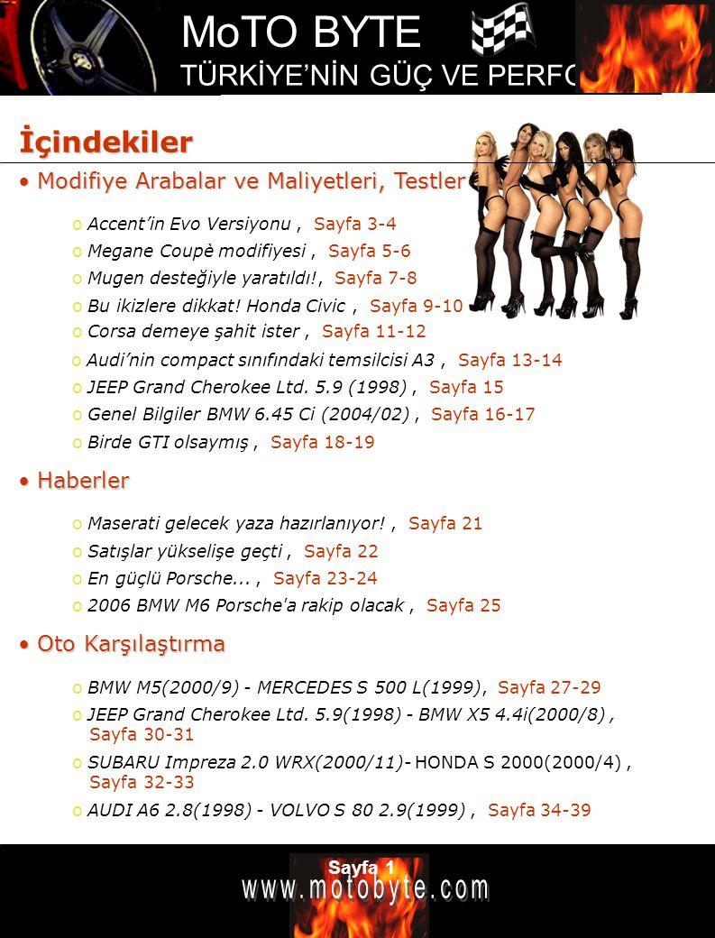 MoTO BYTE TÜRKİYE'NİN GÜÇ VE PERFOMANS DERGİSİ Sayfa 2