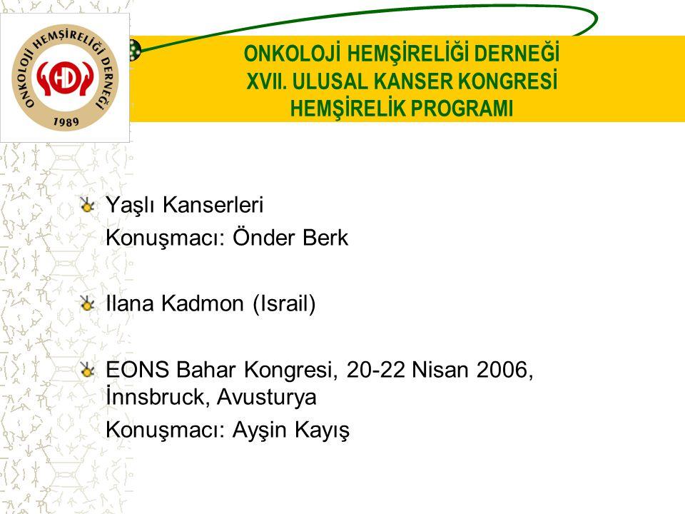 ONKOLOJİ HEMŞİRELİĞİ DERNEĞİ XVII.