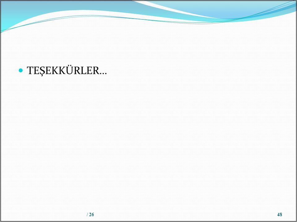TEŞEKKÜRLER… / 2648