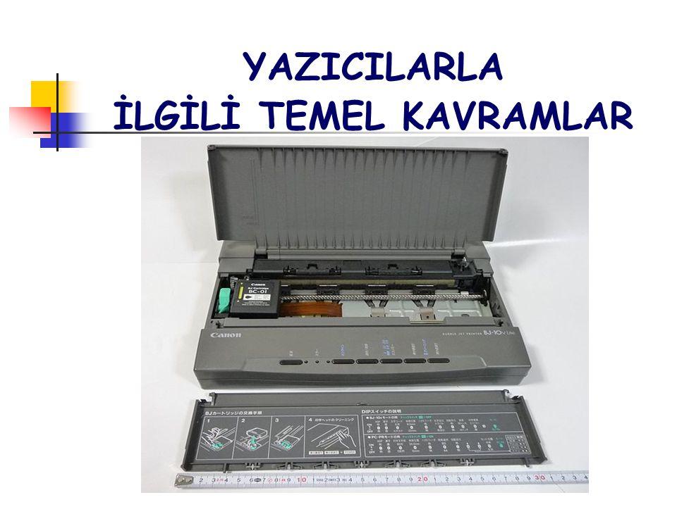 YAZICILARLA İLGİLİ TEMEL KAVRAMLAR