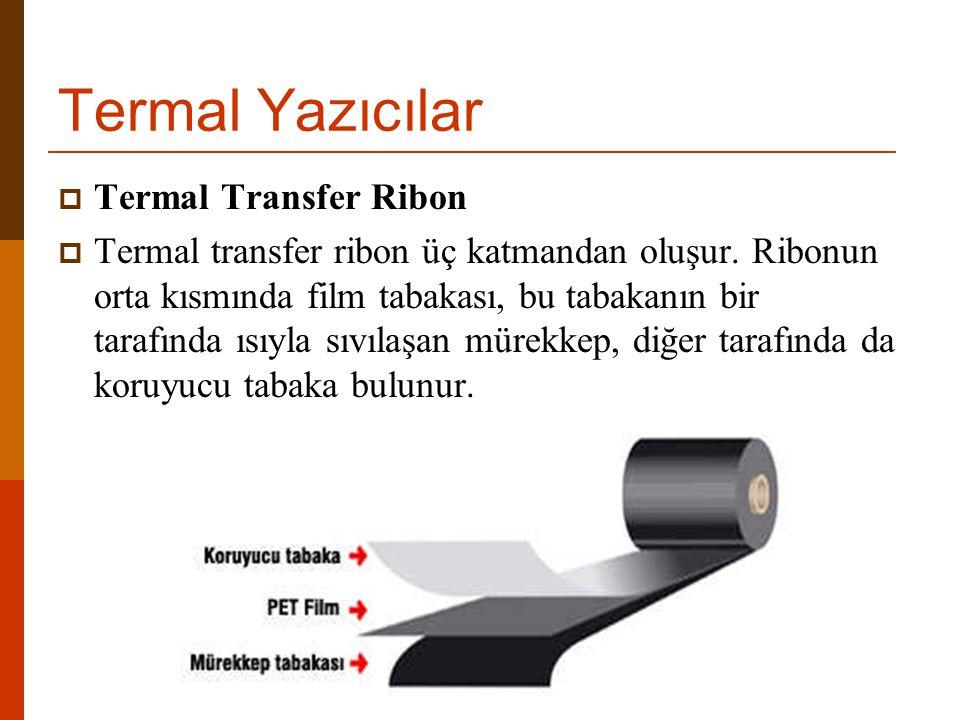  Termal Transfer Ribon  Termal transfer ribon üç katmandan oluşur.