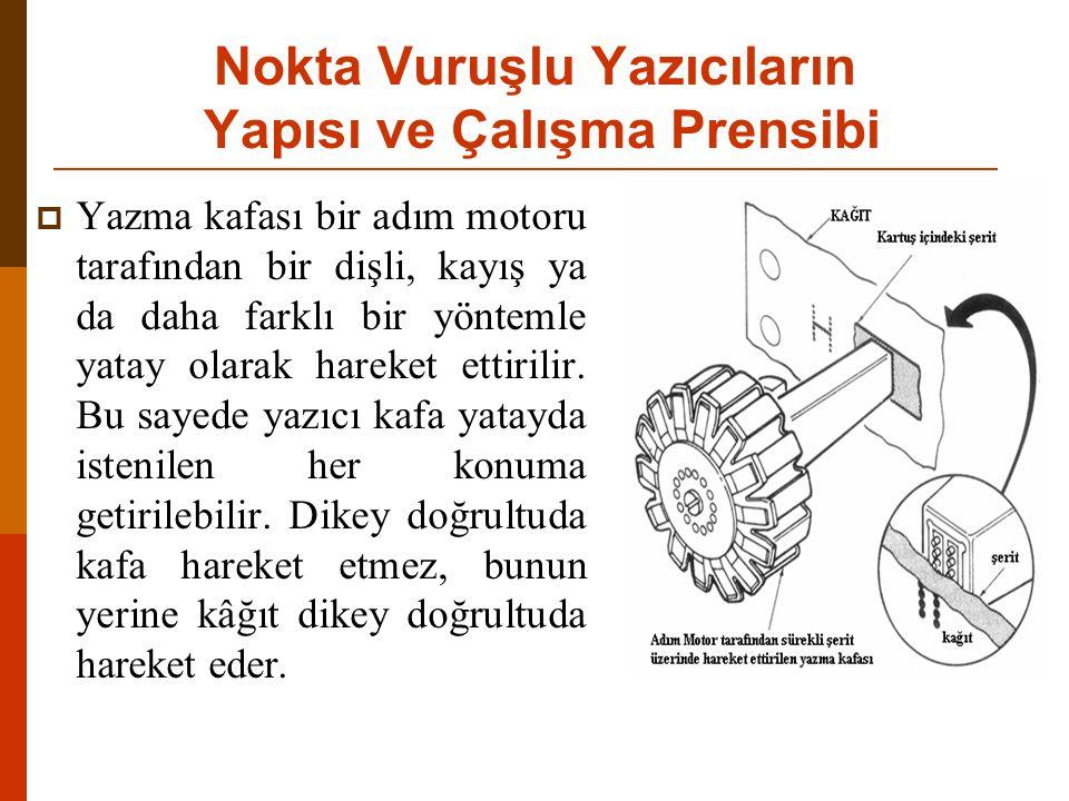  Lazer yazıcılarda da fotokopi makinelerinde olduğu gibi toner kullanılmaktadır.