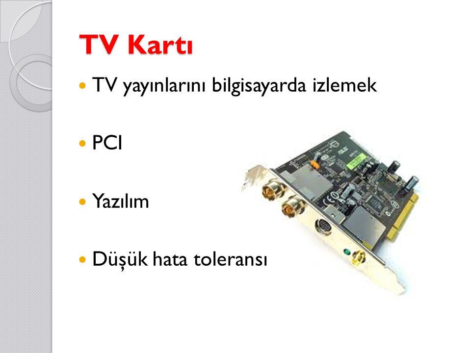 TV Kartı TV yayınlarını bilgisayarda izlemek PCI Yazılım Düşük hata toleransı
