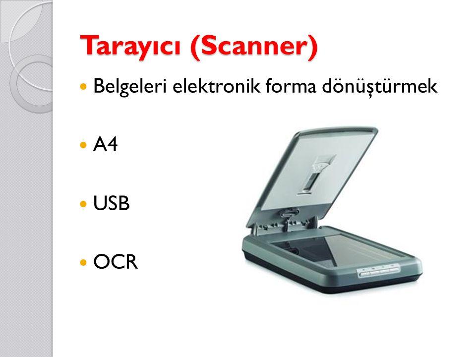 Tarayıcı (Scanner) Belgeleri elektronik forma dönüştürmek A4 USB OCR
