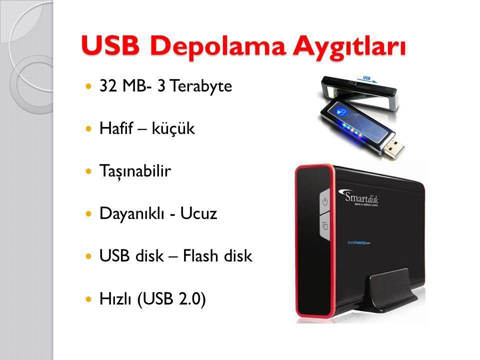 USB Depolama Aygıtları 32 MB- 3 Terabyte Hafif – küçük Taşınabilir Dayanıklı - Ucuz USB disk – Flash disk Hızlı (USB 2.0)