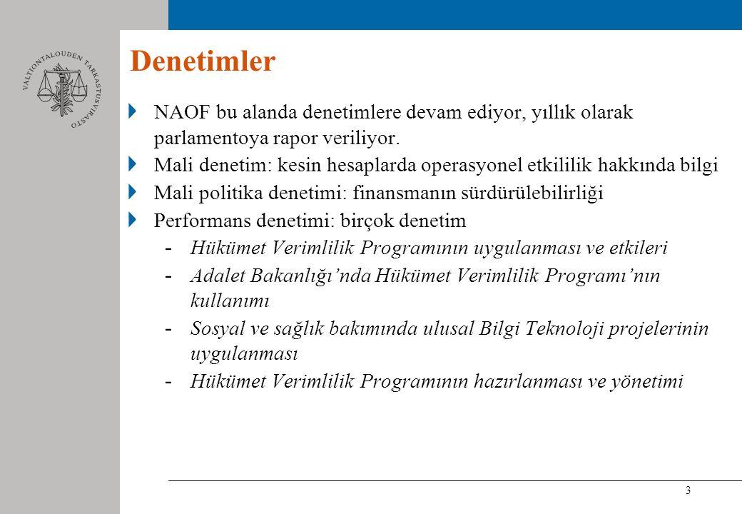 3 Denetimler NAOF bu alanda denetimlere devam ediyor, yıllık olarak parlamentoya rapor veriliyor.