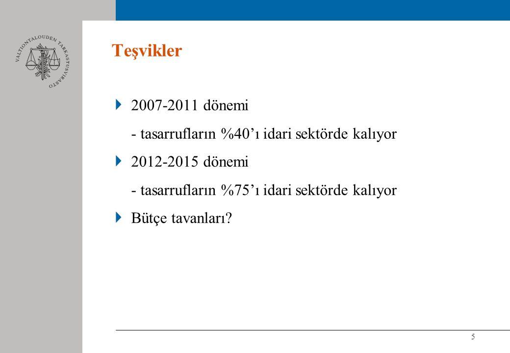6 Ölçüm Sorunları 1996'dan beri Finlandiya İstatistik Kurumu kamu hizmetlerinde verimlilik ölçümünü geliştiriyor.