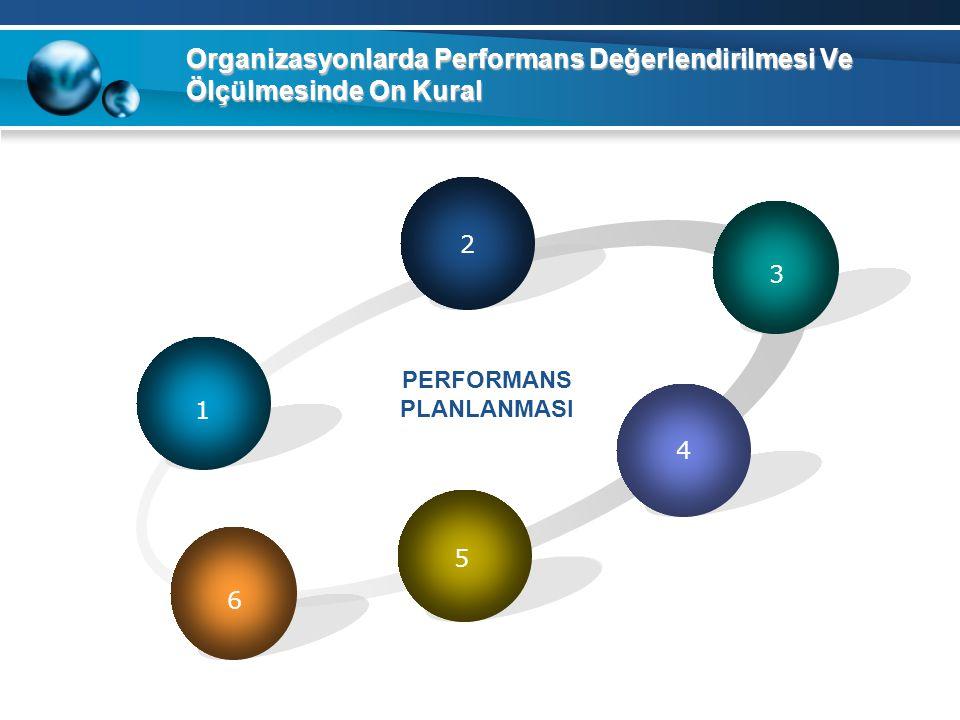 Organizasyonlarda Performans Değerlendirilmesi Ve Ölçülmesinde On Kural 1 2 3 4 5 PERFORMANS PLANLANMASI 6