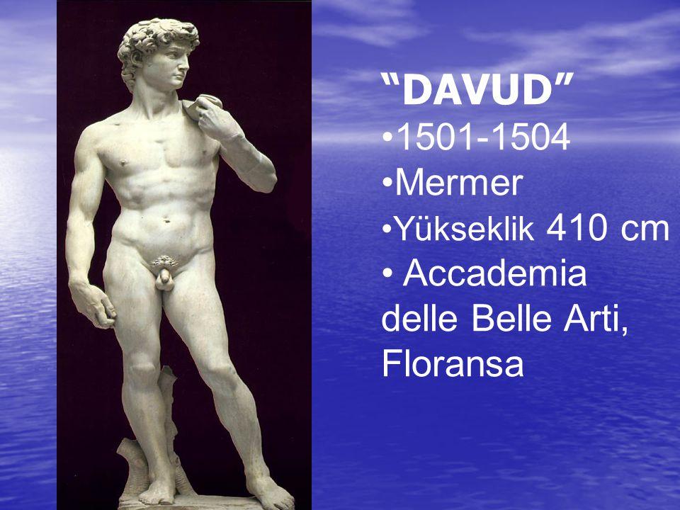 """""""DAVUD"""" 1501-1504 Mermer Yükseklik 410 cm Accademia delle Belle Arti, Floransa"""