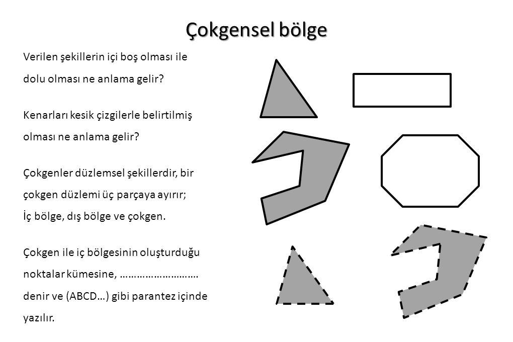 Alıştırma 2 İçi boyalı bir eşkenar üçgen verilmiş olsun.