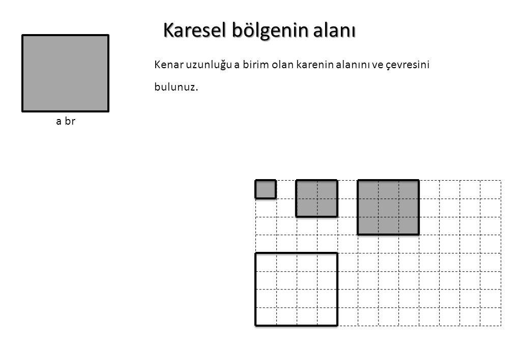 Karesel bölgenin alanı a br Kenar uzunluğu a birim olan karenin alanını ve çevresini bulunuz.