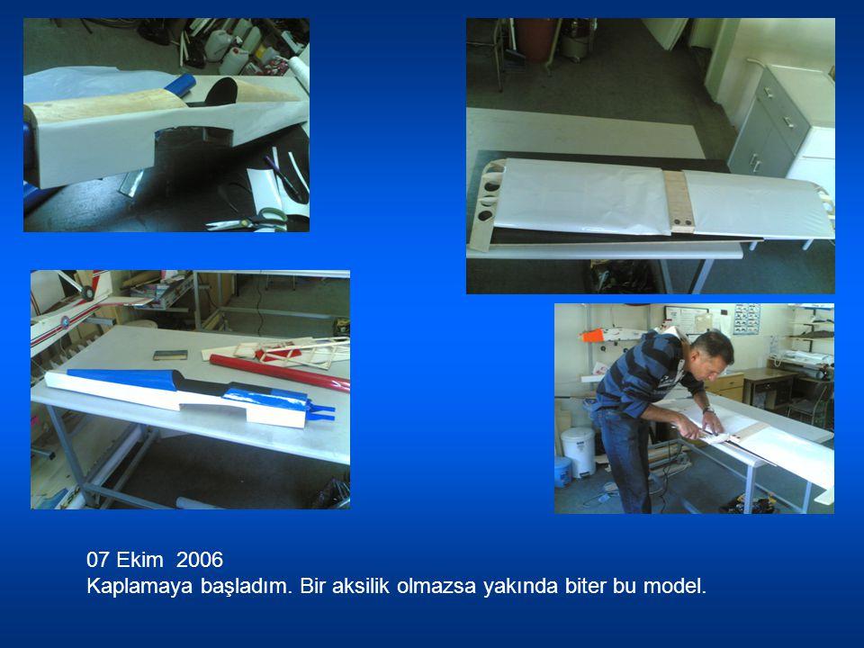 10 Ekim 2006 Kaplama bitmek üzere.Ruder daki Türk Bayrağı güzel durdu değil mi.