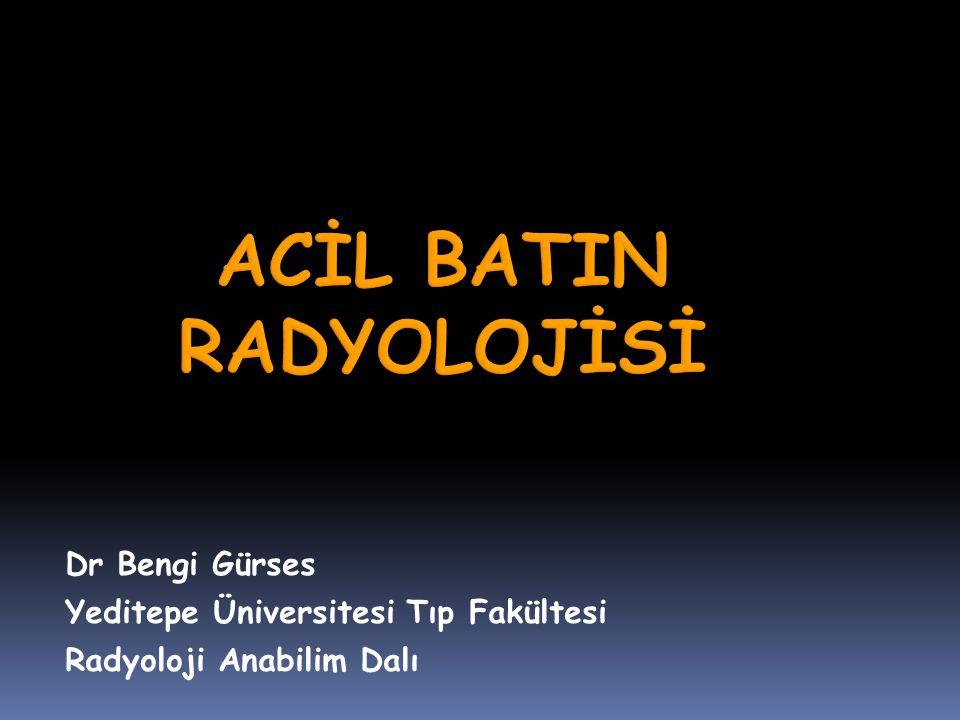 Dr Bengi Gürses Yeditepe Üniversitesi Tıp Fakültesi Radyoloji Anabilim Dalı