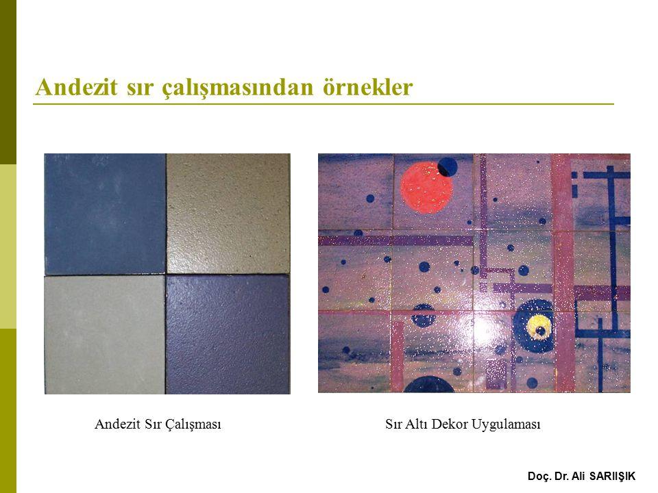 Afyon Andezitlerine Serigrafi yapılma teknikleri  Dekorlar; yüzeylerin estetik değerini artırmak ve uygulandığı yüzeye farklı anlamlar yüklemek amacıyla yapılmış çeşitli tekniklerde yapılan çalışmalardır.
