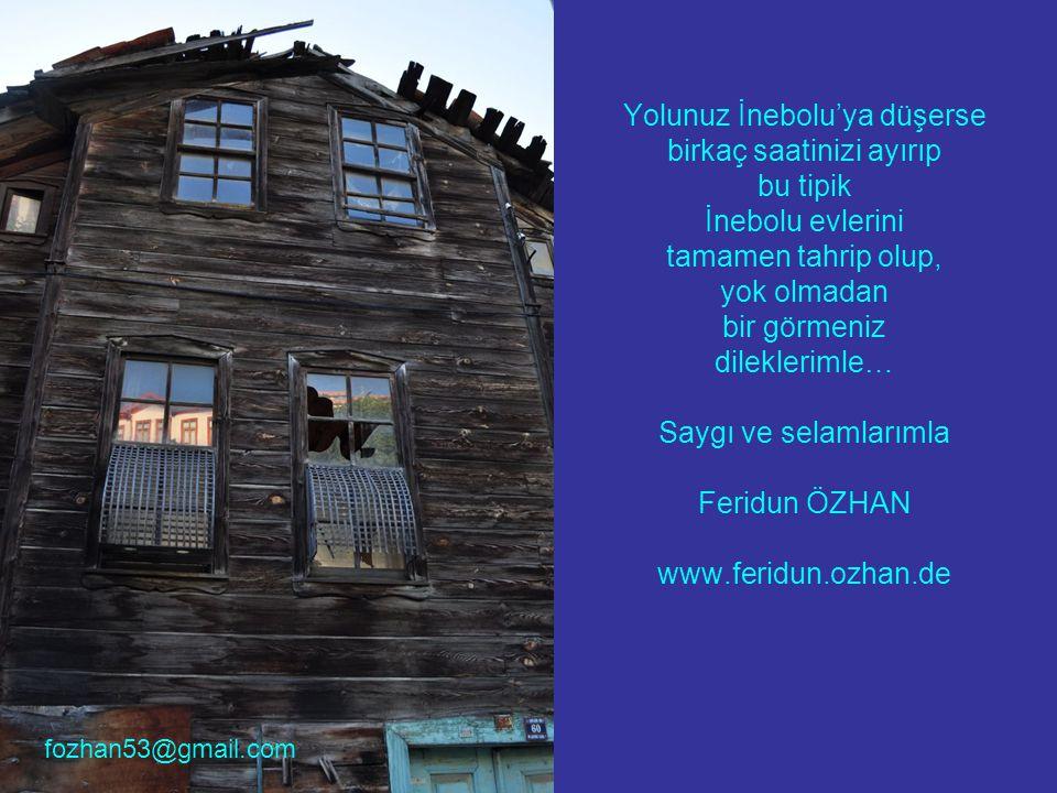 Yolunuz İnebolu'ya düşerse birkaç saatinizi ayırıp bu tipik İnebolu evlerini tamamen tahrip olup, yok olmadan bir görmeniz dileklerimle… Saygı ve sela