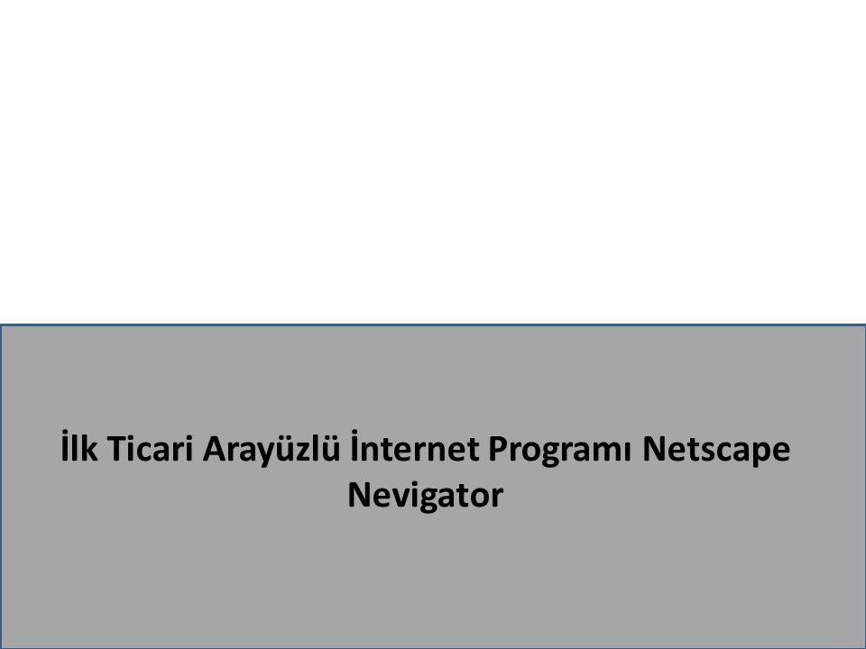 İlk Ticari Arayüzlü İnternet Programı Netscape Nevigator