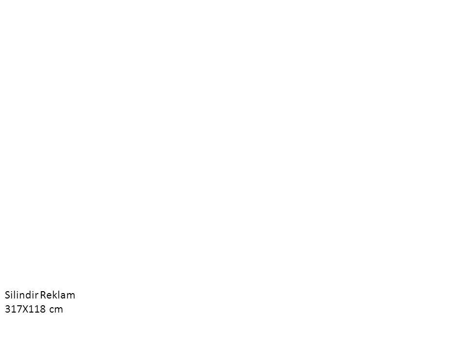 Silindir Reklam 317X118 cm