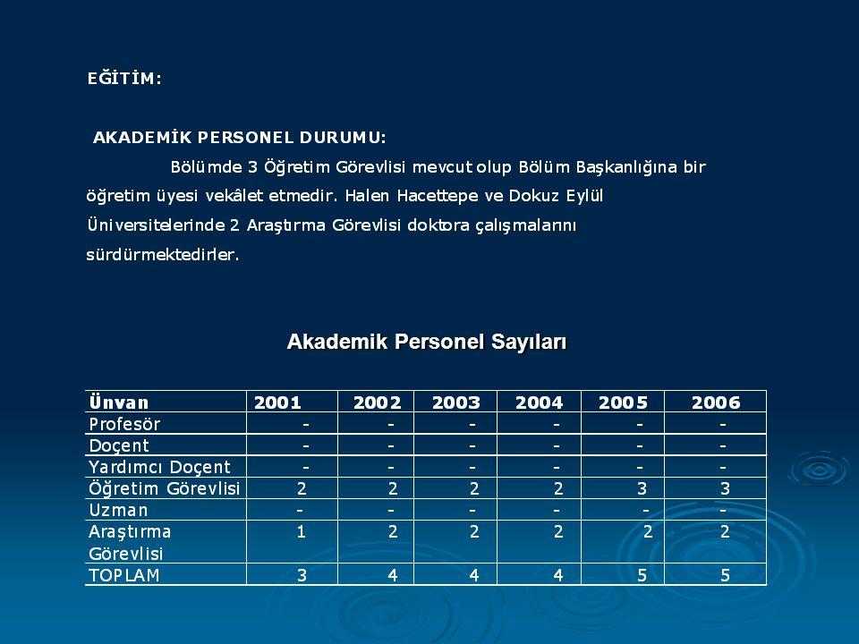 Akademik Personel Sayıları Akademik Personel Sayıları
