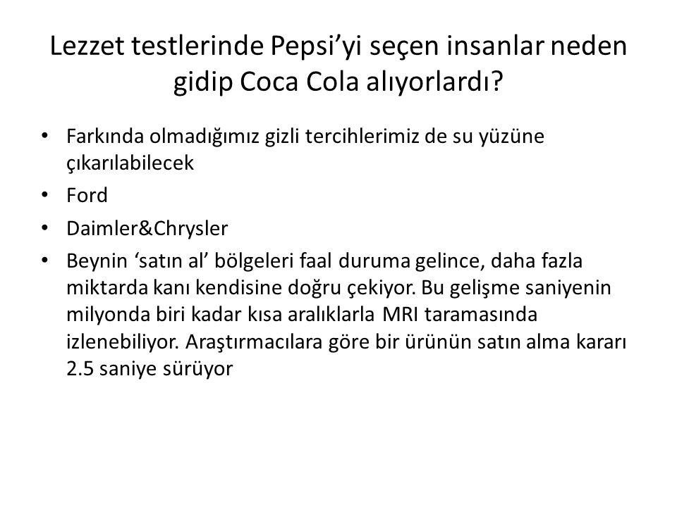 Lezzet testlerinde Pepsi'yi seçen insanlar neden gidip Coca Cola alıyorlardı? Farkında olmadığımız gizli tercihlerimiz de su yüzüne çıkarılabilecek Fo