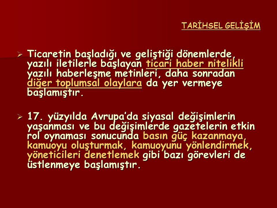 TARİHSEL GELİŞİM  18.
